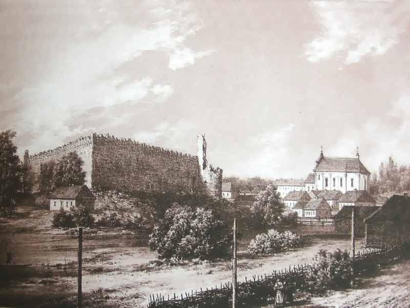 Лидский замок Акварель Наполеона Орды века Город Лида Фото  Акварель Наполеона Орды 19 века Лидский замок Фото