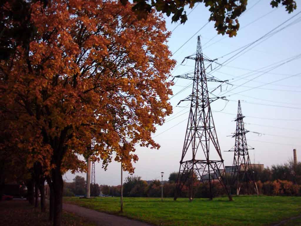 Осенний пейзаж лэп в минске осень в