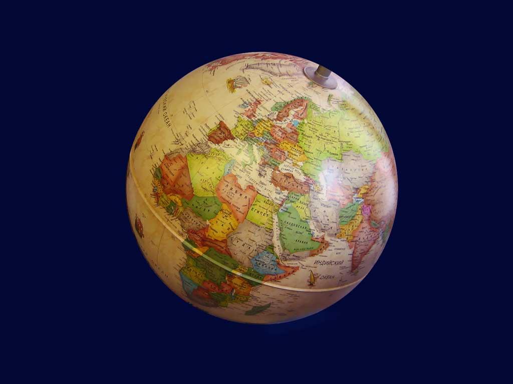 Глобус Политическая карта мира (Черный фон) - YouTube